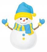 Vector  fun snowman