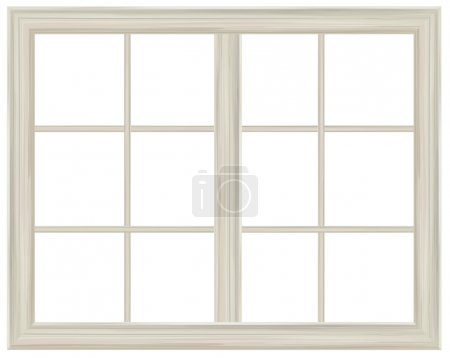 Window frame isolated.