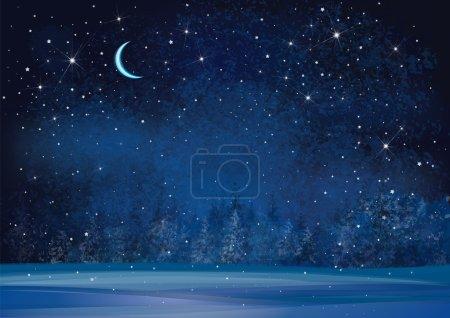 winter night background