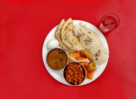 Indian breakfast thali