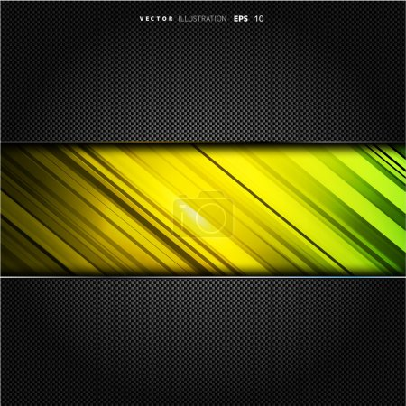 Illustration for Metallic background with carbon texture - Royalty Free Image