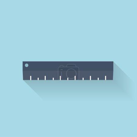 Flat ruler icon