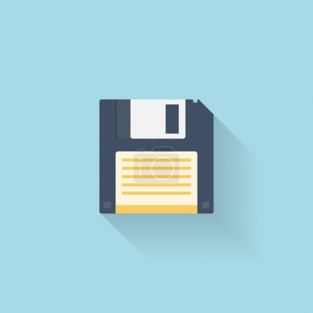Flat floppy disk icon for web...