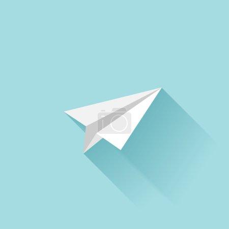 Flat paper plane icon