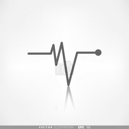 Heart beat, cardiogramm. Pulse icon...