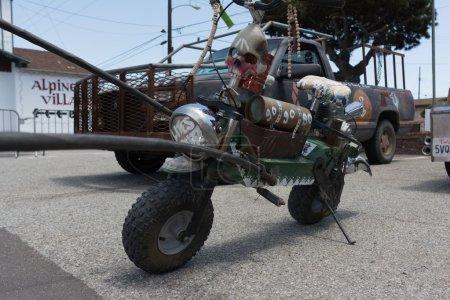 Mini motorcycle postapocalyptic survival vehicle