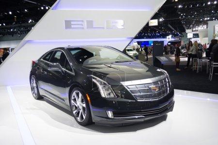 Cadillac ELR car on display