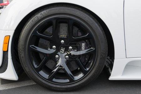 Bugatti Veyron wheels on display