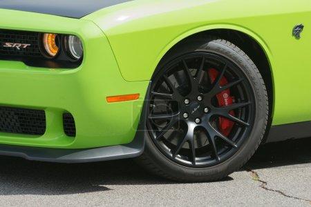 Poster: Dodge Challenger SRT car on