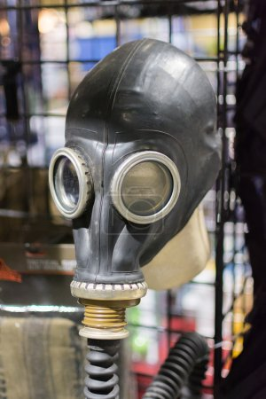 Russian Military Surplus Gas Mask on display