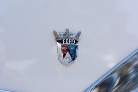 Ford Crown Victoria Emblem on display