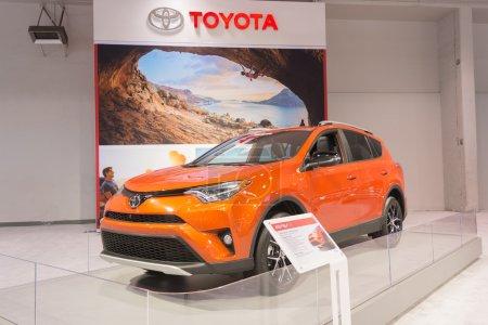 Toyota RAV4 on display