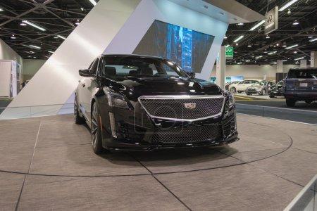 Cadillac CTSV on display