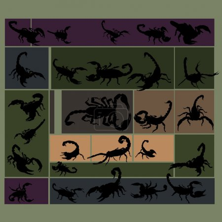 Scorpions dark colored set