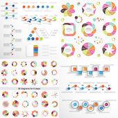 Super big set 4 Infographic elements Templates for business re