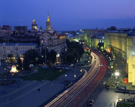 Khreshchatyk street in evening time