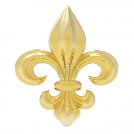 Fleur de lis isolated on white