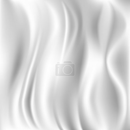 White Silk Fabric for Drapery Abstract Background,