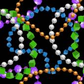 Mardi gras seamless pattern with color beads 01