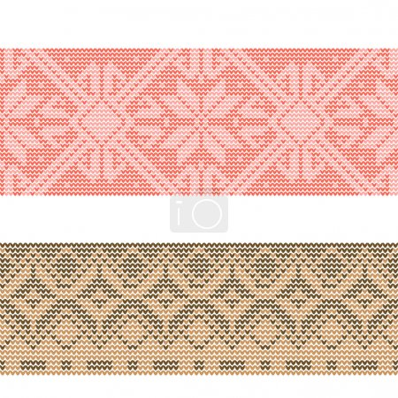 Nordic pattern. Seamless knitted background.