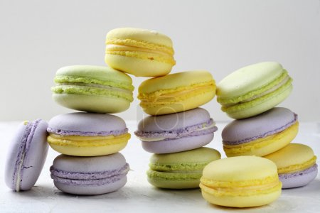 Photo for Different types of macaroons, french dessert - Royalty Free Image