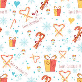 Christmas  wrapping paper with Sweet Cane on the white background. Vector illustration.