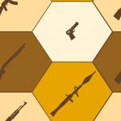 Seamless background with weapons and arms for your design