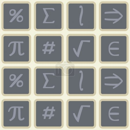 Seamless background with mathematical symbols