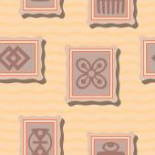 Seamless background with adinkra symbols for your design