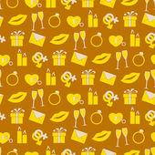Seamless background withwedding icons