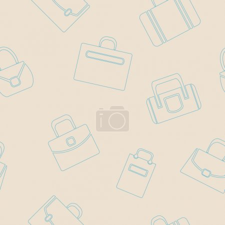 Seamless background with  bags