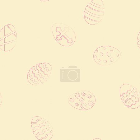 seamless background with Easter eggs