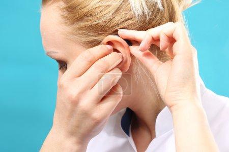 Hearing loss. Hearing aid