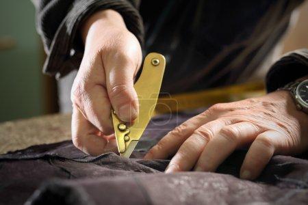 Furrier cut leather