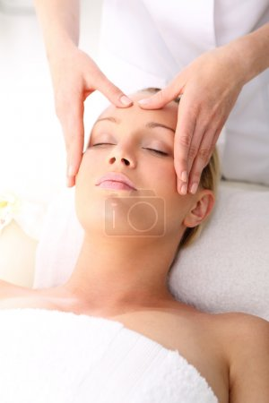 Photo for Beauty salon, the woman at face massage - Royalty Free Image