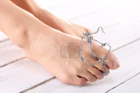 Healthy feet, pedicure, Hygiene feet, nail plastic