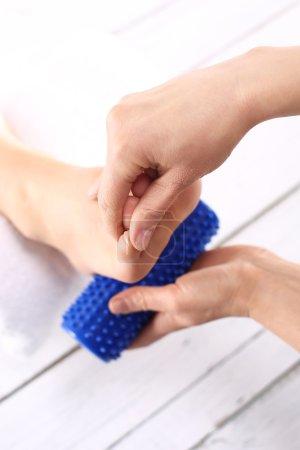 Rehabilitation foot massage