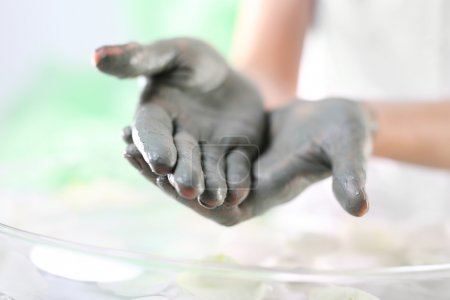 Daily care of hands: smoothing dry and rough hands