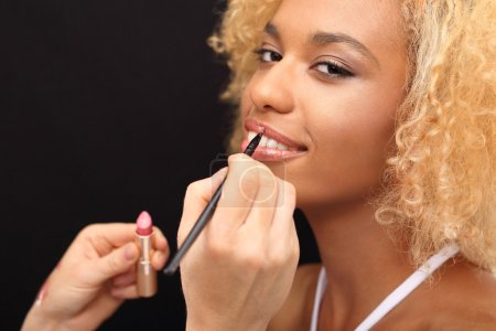 Beautiful colored lips
