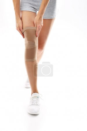 Elastic, dressing knee