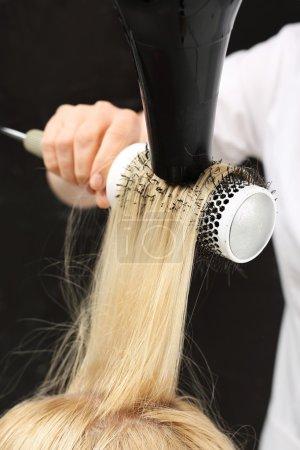 Hairdresser  dry hair