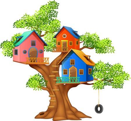 Illustration pour Illustration vectorielle d'une cabane colorée - image libre de droit