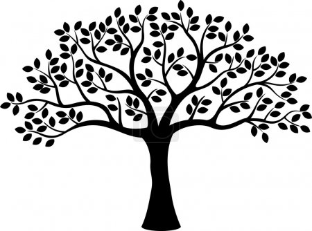 Illustration for Vector illustration of Tree silhouette - Royalty Free Image