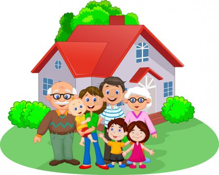 Photo for Vector illustration of Happy cartoon family - Royalty Free Image