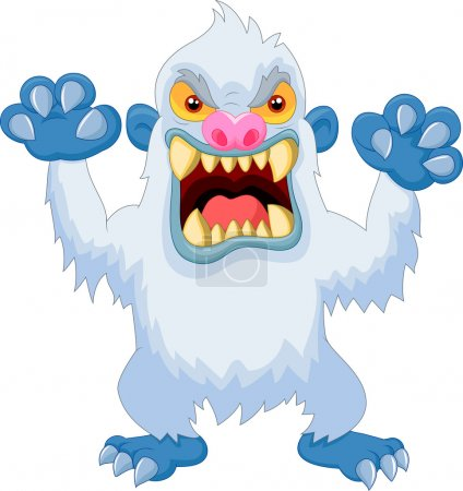 Angry cartoon yeti