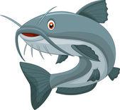 Vector illustration of Cartoon catfish