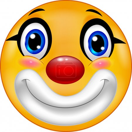 Illustration for Vector illustration of Clown emoticon cartoon - Royalty Free Image