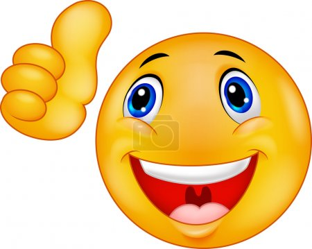 Illustration for Vector illustration of Happy Smiley Emoticon cartoon Face - Royalty Free Image
