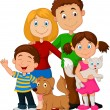 Happy family cartoon