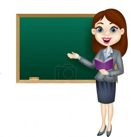 Cartoon female teacher